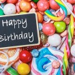 Blackboard with congratulations on his birthday — Stock Photo #50622253