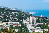 View of the city and the sea in Yalta — Stock Photo