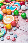 Multicolored sweets and chewing gums — Stock Photo