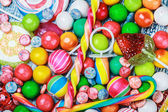 Lollipops and chewing gums — Stock Photo