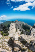 High rocks Crimean mountains — Stock Photo