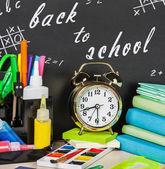 School supplies on the desk  — Stock Photo