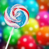 Colorful spiral lollipop   — Stock Photo