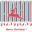 Royalty-Free Stock Vector Image: Christmas  card with reindeert and festive garland