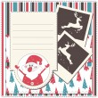 Christmas greeting scrapbook card - Stock Vector
