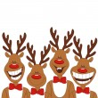 Stock Vector: Christmas illustration of cartoon reindeer.