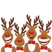 Ilustración de navidad de renos de dibujos animados. — Vector de stock