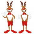Cartoon Christmas reindeer. — Stock Vector