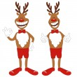 Cartoon Christmas reindeer. - Stock Vector