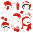 Christmas icons and elements — Stock Vector