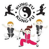 Kung fu — Stock Vector