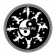 Kung fu logo - Stock Vector