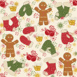 Colorful Christmas pattern seamless — Vettoriali Stock
