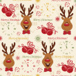 Christmas pattern seamless - Stock Vector