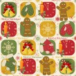 Royalty-Free Stock Vektorfiler: Colorful Christmas pattern seamless