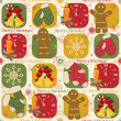 Royalty-Free Stock Imagem Vetorial: Colorful Christmas pattern seamless