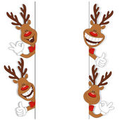 Cartoon Christmas deer — Stock Vector