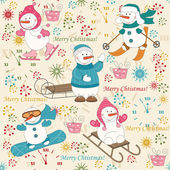 Colorful Christmas pattern seamless — Stock Vector