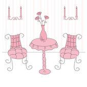 Princess living room — Stock Vector