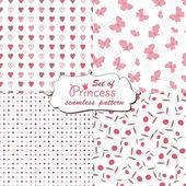Naadloze patroon voor prinsesje — Stockvector