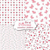 Seamless pattern for little princess — Stockvector