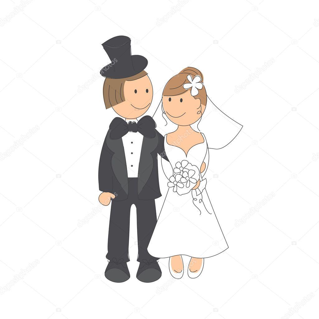 Рисунки жених и невеста своими руками