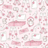 Wedding seamless pattern — Stockvektor