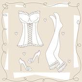 Set of ladies underwear . — Stock Vector