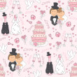 Wedding seamless pattern - Stock Vector