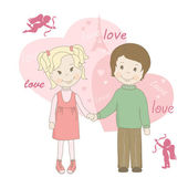 Valentine's day greeting card. — Stock Vector