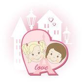 Romantic couple — ストックベクタ