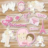 Happy valentine`s day — Stock Vector