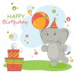 Happy Birthday card . — Stock Vector #19556089