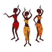 Beautiful ethnic women — Stock Vector