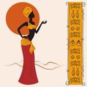 Beautiful African American woman — Stock Vector