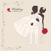 Wedding invitation . — Stock Vector