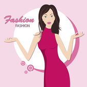 Fashion woman — Stock Vector