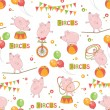Baby colorful seamless pattern - Stock Vector