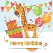 Happy Birthday card . — Stock Vector