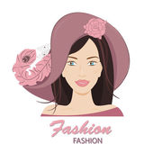 The fashionable young lady. — Stock Vector