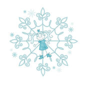 Snowflake-girl — Stock Vector