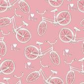Patrones sin fisuras de la bicicleta — Vector de stock