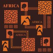 Design africano. — Vetorial Stock