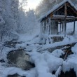 Summerhouse in winter — Stock Photo