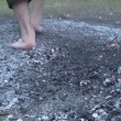 Firewalking — Stock Video