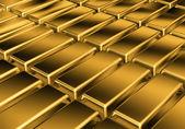 Golden bars — Stock Photo