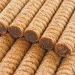 Stock Photo: Wafer rolls closeup