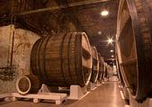 Wine cellar underground storage — Stock Photo