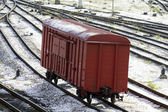 Freight cars sort on the railway 2 — Stock Photo