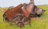 Remains of the ancient car — Stock Photo